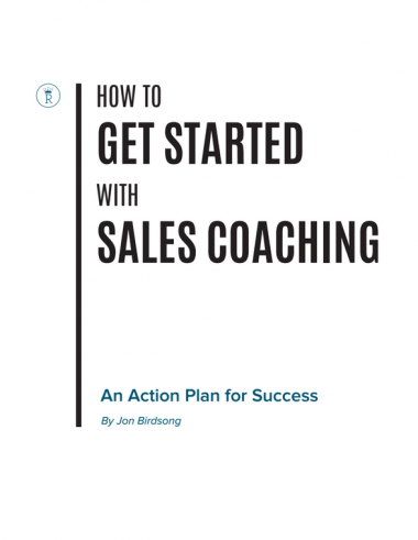 sales coaching book
